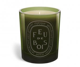 Grey Candle Feu de Bois